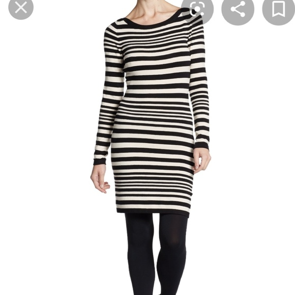 French Connection Dresses & Skirts - French Connection cream/gray sweater dress/tunic